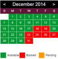 Availability calendar for Der Stall Bed and Breakfast Barn